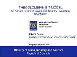 Colombian BIT Model