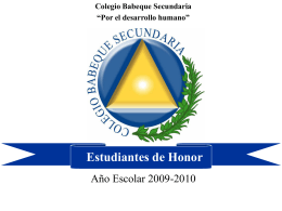 Estudiantes de Honor 2009-2010