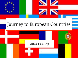 Journey to European Countries