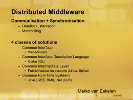 Distributed Middleware - Institute for Computing and