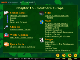 Chapter 16 - Southern Europe