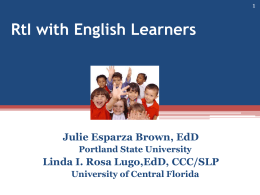 RtI with English Learners
