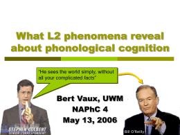L2 phonology