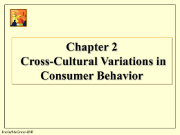 Consumer Behavior/Building Mktg Strategy
