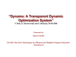 dynamo - Donald Bren School of Information and