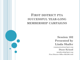 First district pta successful year