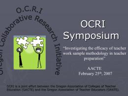 OCRI Symposium