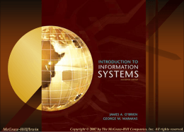 Intro to Information Systems