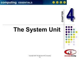 Chapter 4: The System Unit