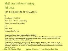 Black Box Software Testing Special Edition