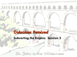 Colossians Remixed - St. John in the Wilderness Adult