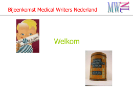 Bijeenkomst Medical Writers Nederland
