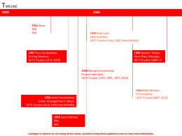 Timeline of the UKTS - United Kingdom Thalassaemia Society