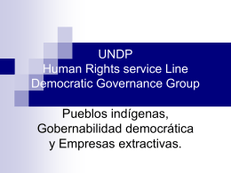 UNDP Human Rights service Line Democratic Governance …