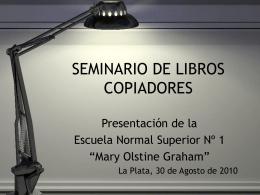 SEMINARIO DE LIBROS COPIADORES