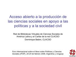 Diapositiva 1 - CLACSO - Red de Bibliotecas Virtuales