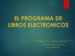 EL PROGRAMA DE LIBROS ELECTRONICOS