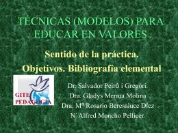 TECNICAS PARA EDUCAR EN VALORES