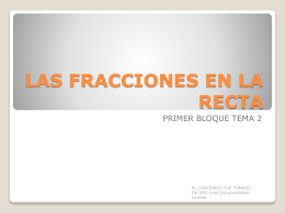 LAS FRACCIONES EN LA RECTA - Marypily's Blog | Just