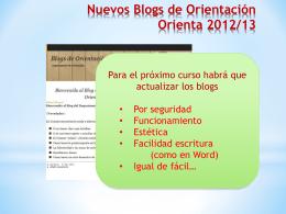 Nuevos Blogs