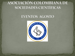 Diapositiva 1 - Sociedades Cientificas