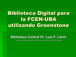 Biblioteca Digital para la FCEN-UBA