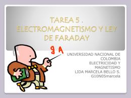 TAREA 5 . ELECTROMAGNETISMO Y LEY DE FARADAY