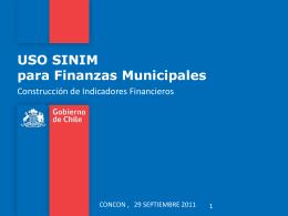 USO SINIM para Finanzas Municipales