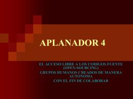 APLANADOR 4