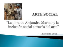ARTE SOCIAL - Alejandro Marmo