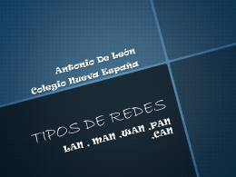 TIPOS DE REDES - centronuevaespanha