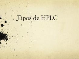 Tipos de HPLC - AnalizameSTA