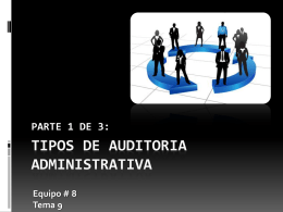 TIPOS DE AUDITORIA ADMINISTRATIVA