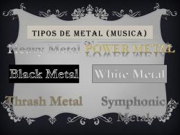 Tipos de Metal (Musica)