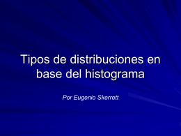 Tipos de distribuciones en base del histograma