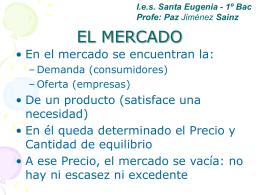 TIPOS DE MERCADO - I.E.S. Santa Eugenia