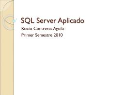 SQL Server Aplicado - Apuntes DUOC / FrontPage