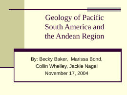 Geology of Pacific South America and the Andean Region