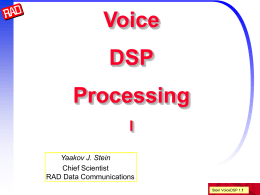 Voice DSP Processing