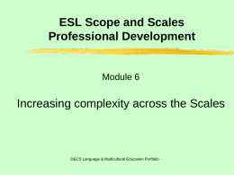 ESL Scope and Scales Module 6