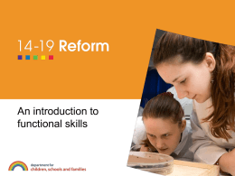 An introduction to functional skills
