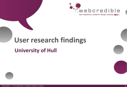 Presentation title - University of Hull
