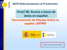 Diapositiva 1 - WIPO - World Intellectual Property