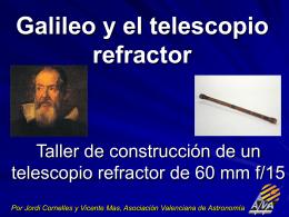 Galileo y el telescopio refractor