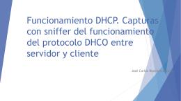 Funcionamiento DHCP. Capturas con sniffer del