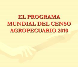 CENSOS AGROPECUARIOS