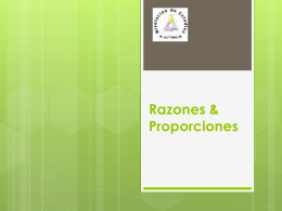 Razones & Proporciones