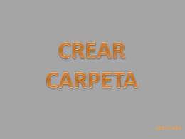 CREAR CARPETA