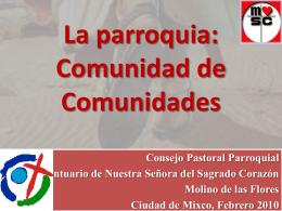 La parroquia: Comunidad de Comunidades