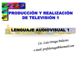 PRODUCCION Y REALIZACION DE TELEVISION I